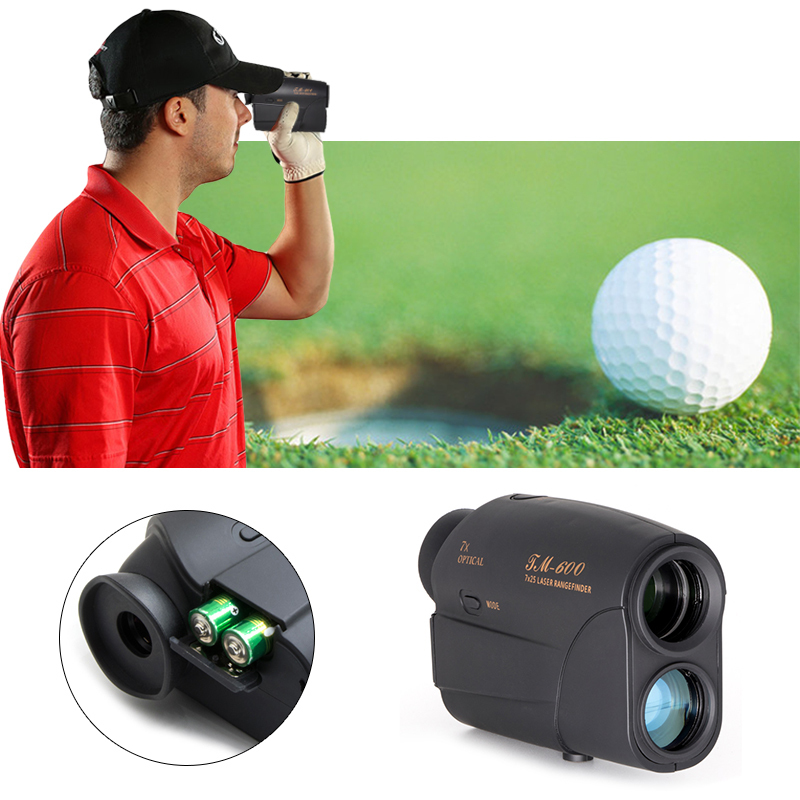 Compact 7x25 600m Laser Range Finder Golf Rangefinder Hunting Telescope Monocular Distance Meter Speed Tester hunting tactical golf distance meter laser range finder speed tester monocular 6x21 600m laser rangefinder