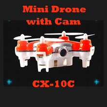 Mini Drone with Camera Cheerson CX-10C 2.4G 4CH 6 Axis RC Quadcopter with Camera RTF MODE2 Best Gift for KIds FSWB