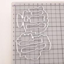 Новые Посуда Нож Очистить Штамп и Металлические Штанцевые формы Печать для DIY Die Scrapbooking