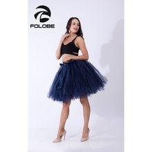 bdbf3c6f9f FOLOBE Navy Blue Handmade Midi Tulle Skirt American Apparel Tutu Skirts  Women Ball Gown Party Petticoat faldas saia jupe TT010