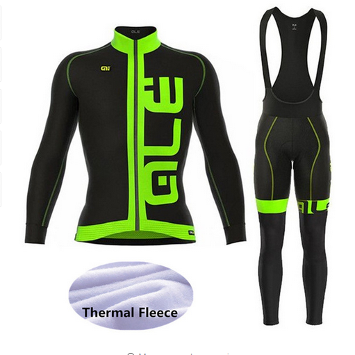 2018 ALE Cycling Clothing /MTB Bike Wear Ropa Ciclismo Winter Thermal Fleece Cycling Clothing / Pro Mens Cycling Jersey -EE429