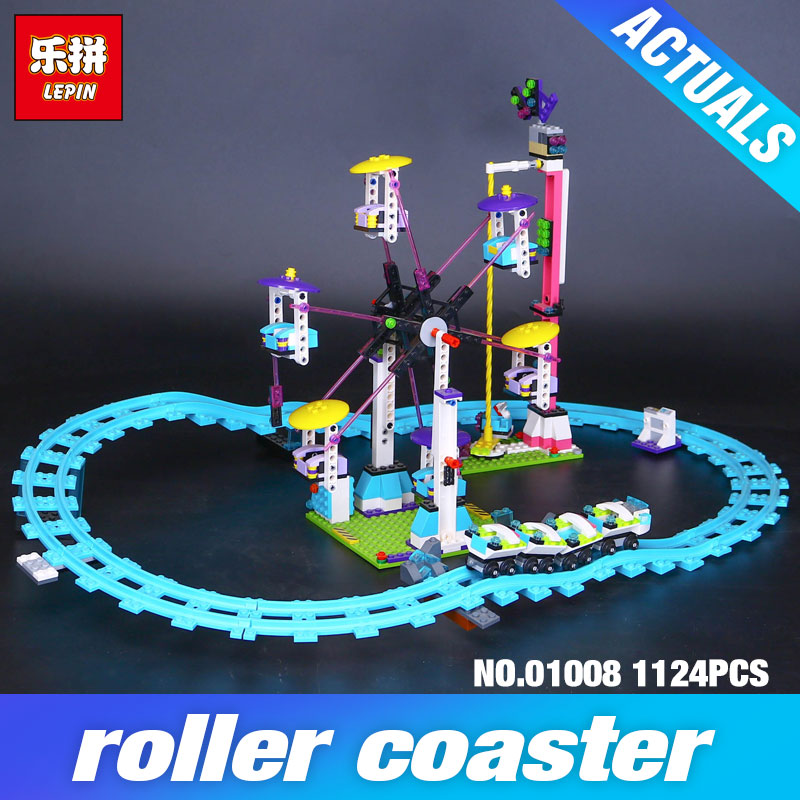 2017 New LEPIN 01008 1124Pcs Amusement Park Coaster Building Kits Girl Blocks Bricks Toys Compatible DIY Educational Gift 4113 2016 new lepin 01008 1124pcs amusement park coaster building kits girl friend blocks bricks toys compatible gift 4113