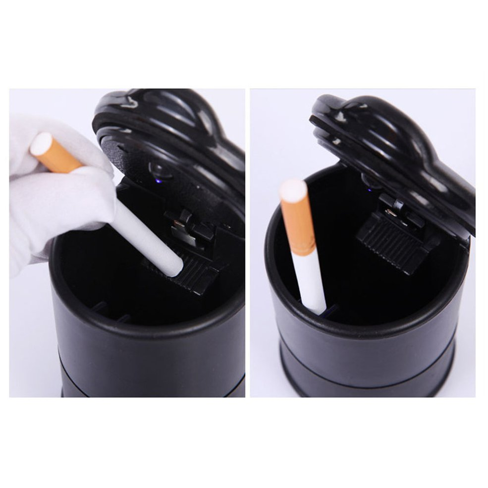 New Car Ashtray High Flame Retardant Ashtray For 4s Shop Ashtray Manufacturer Portable Simple Car Ashtray With Light