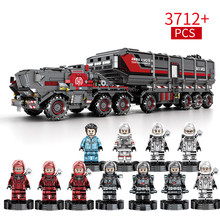 3712pcs Children's Building Blocks Bricks Toys Earth Wander Compatible Legoing City Engineer Series Box Truck Birthday Gifts