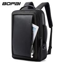 BOPAI 확대 안티 도난 노트북 USB 외부 충전 16 인치 다기능 배낭