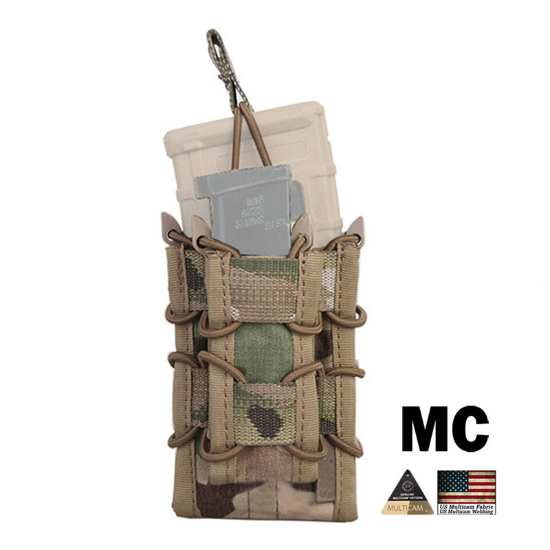 Tactical 5.56 Double <font><b>Magazine</b></font> Pouch for Rifle <font><b>M4</b></font> / M14 / AK /G3 Pistol M92 /1911/HK45 Multicam Airsoft Molle Mag Pouch Holder image