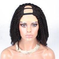 U Bölüm İnsan Saç Peruk Brezilyalı Kinky Kıvırcık Peruk 130% Yoğunluk Bal Kraliçe Saç Ürünleri Remy