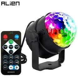 ALIEN 6 Вт 7 цветов RGB пульт дистанционного управления светодиодный хрустальный магический шар DJ Дискотека сценическое освещение вечерние пра...