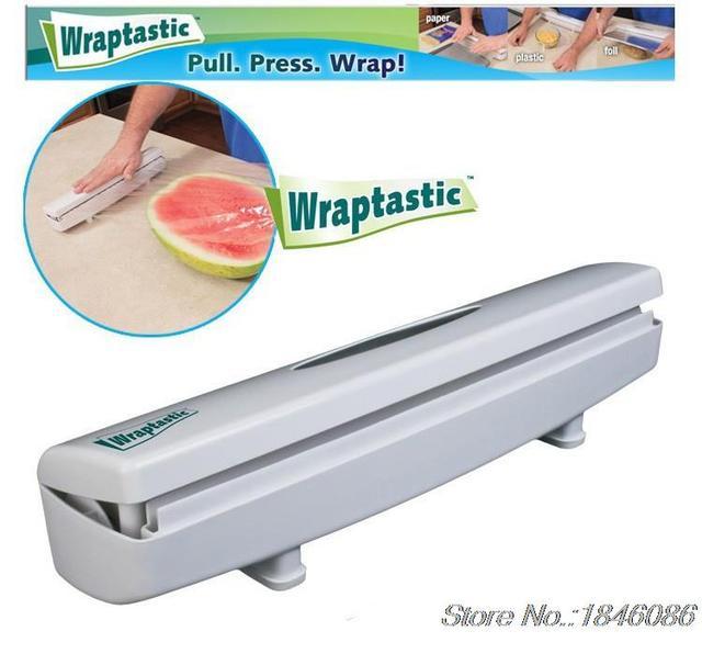 Cling Film Cutter Wraptastic Dispenser Mudah Untuk Memotong Tanpa Meninggalkan Tanda Plastik Makanan Bungkus Dapur
