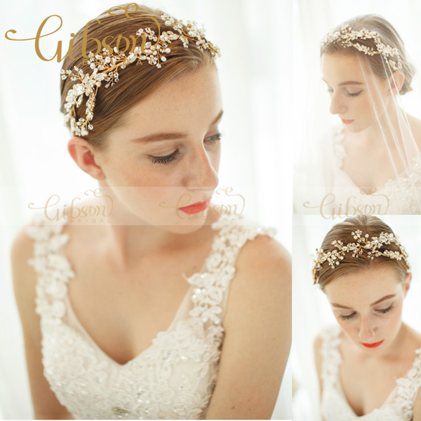 Free Shipping Rhinestone Beads and Crystal Dazzle Wave Headband Wedding Hair Accessories Bridal Headband Tiara Crown rhinestone metal headband