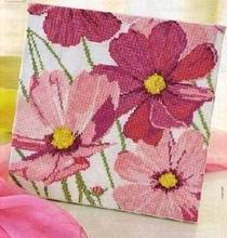 Daisies DIY Craft Stich Cross Stitch Cotton Fabric Needlework Embroidery Crafts Counted Cross-Stitching Kit