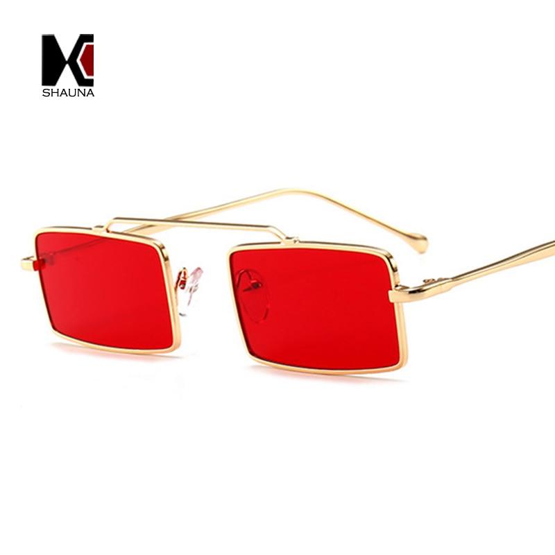 Shauna Wide Bridge Women Square Sunglasses Rivet Men Clear -3169