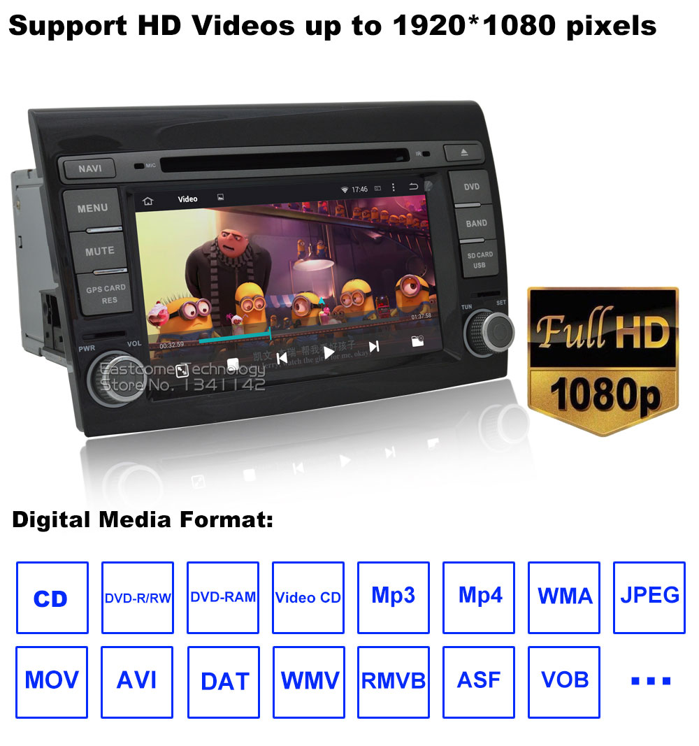 Excellent 1024*600 8 Cores Octa Core Pure Android 6.01 Car DVD Player For Fiat Bravo 2007 2008 2009 2010 2011 2012 With Rear View Camera 20