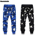 Mountainskin 2017 New Fashion Harem Men's Pants Full length Emoji Jogger Men Pants Cotton Print Star HaraJuku Jogger Pants,JA079