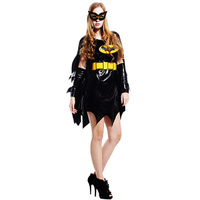 Hot Black Batman Costume Adult Batgirl Women Halloween Costumes For Women Sexy Superhero Cosplay Carnival Mask