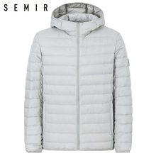 SEMIR 90% duck down jacket for man ultralight warm winter jacket men duck down jacket men clothing casual outerwear hooded coat(China)