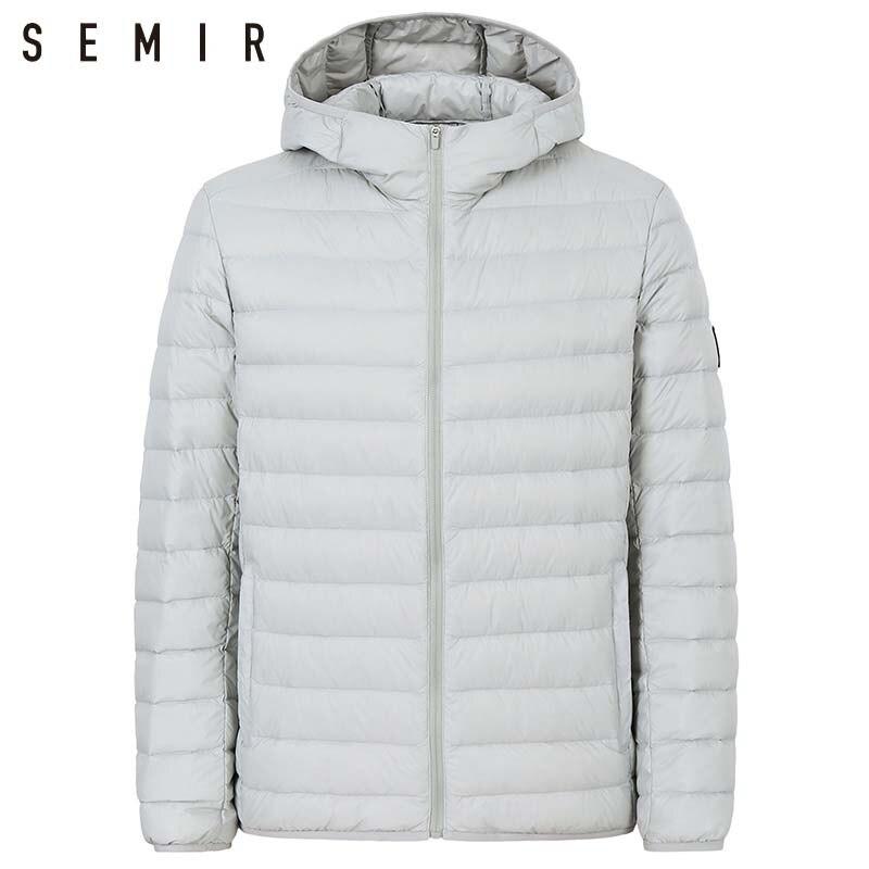 SEMIR 90% duck   down   jacket for man ultralight warm winter jacket men duck   down   jacket men clothing casual outerwear hooded   coat