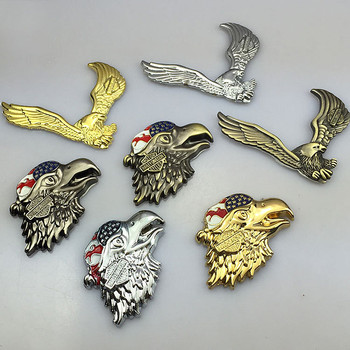3D Eagle Zinc Alloy Metal Car Motorcycle Sticker Eagle Emblem Badge DIY Car Styling Stickers Accessories gecko style zinc alloy car decorative stickers golden 2 pcs