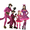 Hot cosplay costume masquerade Alice in Wonderland Cheshire Cat halloween costume