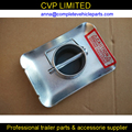 """Standard 2"""" round leg trailer jack foot plate with pin for A Frame. Car Utility Cargo Univer Use Camper RV trailer,trailer parts"""
