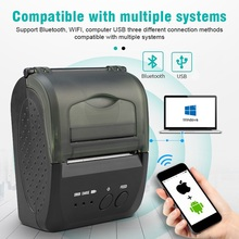 цена ZJ 5809 Portable mobile photo Mini Bluetooth POS 58mm thermal printer bar code android pos handheld ticket smartphone printer онлайн в 2017 году