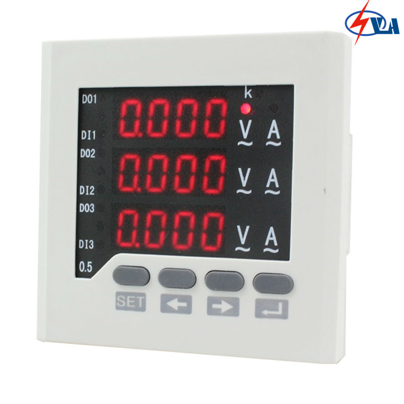 3UIF63  72*72mm three phase digital AC current voltage meter combination meter AC 220V three phase combination meter voltmeter amperemeter
