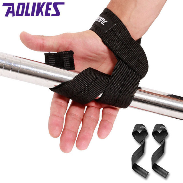 6ba6fc5ed7e2 1 Pair Crossfit Weight Lifting Straps Wrist Wrap Fitness Dumbbell Barbell Exercise  Training Gym Equipment Anti
