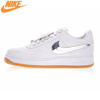 Nike Air Force 1 Low Travis Scott Women Skateboarding Shoes Women Outdoor Sneakers Comfortable Shoes White