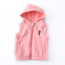 2017 Kids Vest Children Autumn Winter Warm Fleece Baby Girls Waistcoat Sleeveless Outerwear Jackets Toddler Boys Clothing DQ474