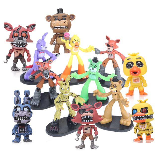 Five Night At Freddys Figure Set Toy Nightmare FOXY Chica Bonnie Golden Freddy Fazbear Mystery Collection