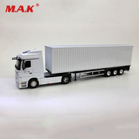 Collectible 1:50 Alloy Metal White UN Container Van Diecasts Truck Vehicles Ship Transporter Toys Model Gift for Children
