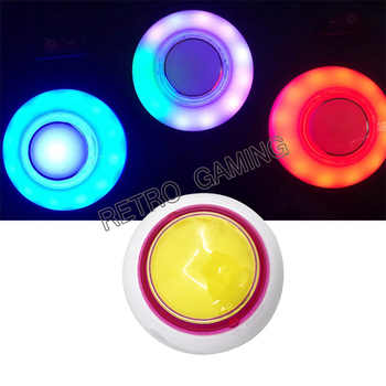 10pc RGB flashing in cycle with 12V Colorful LED illuminated arcade push button with microswitch for toy crane machines parts - DISCOUNT ITEM  5% OFF Sports & Entertainment