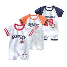 Летняя одежда для новорожденных комбинезон мальчиков с коротким
