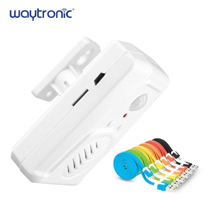 MP3 Infrarouge Sonnette Sans Fil PIR Motion Sensor Lecteur Boutique Magasin Bienvenue Sonnette De La Porte D'entrée D'alarme avec USB Câble Téléchargement Gratuit