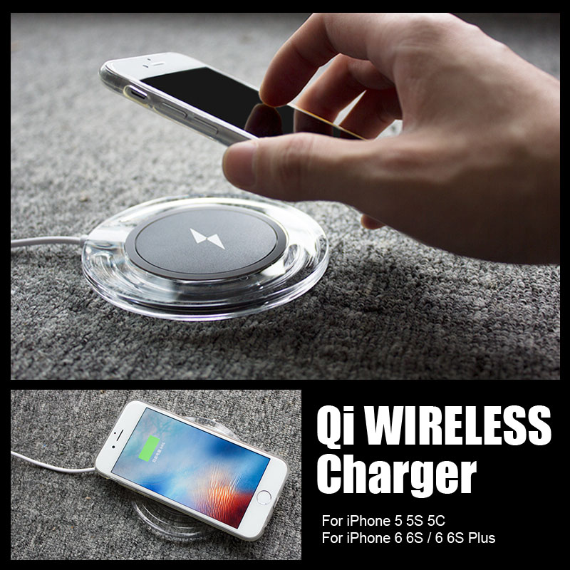 Universal Qi Wireless Charger For iPhone6 Pad Fast Charging Dock for APPLE iPhone 5 5S 5C