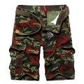 2016 summer new fashion men's multi-pocket cargo shorts camouflage men's casual shorts plus size 29-36 yards & 3 colors