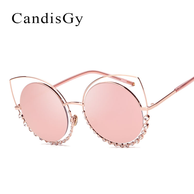 CandisGY Mulheres Óculos Olho de Gato óculos de Sol Da Forma Da Senhora de  Luxo Famosa Marca Desinger Escavar Óculos de Sol de diamante Do Sexo  Feminino 7ad13a9140
