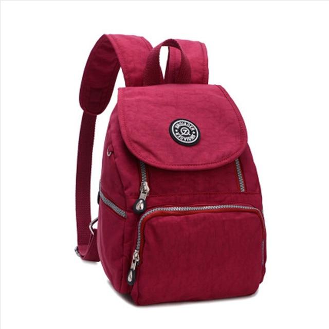 2017 Women Nylon Waterproof Backpack cheap backpacks female girl ...