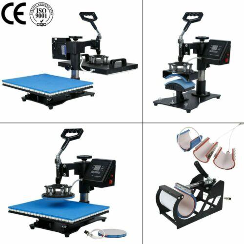 30*38CM 8 en 1 Combo presse à chaud Machine Sublimation imprimante 2D transfert thermique stylo tissu chapeau tasse plaque T-shirt Machine d'impression - 5
