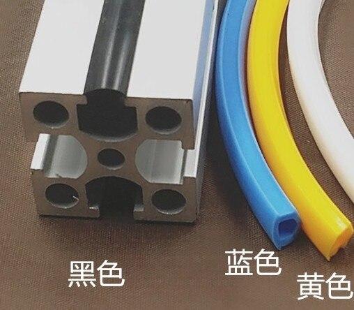 1 Meter 20/30/40/50 Serie 6mm/8mm/10mm Flache Dichtung Für 2020 Aluminium Profil Weiche Slot Abdeckung/panel Halter C-strahl Maschine ZuverläSsige Leistung