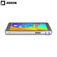 DLP портативный проектор Tablet 2 в 1 светодиодный мини микро-проектор Android 8 дюймов 3 г Tablet PC Wi-Fi домашний кинотеатр образования детей