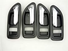 4PCS BLACK INSIDE DOOR HANDLE FOR Great Wall Haval hover H3 H5 2010 2013 inside Handle car handle door knob