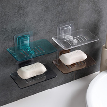 Simple Punch-Free Plastic Suction Cup Wall-Mounted Soap Holder Bathroom Drain Soap Box Bathroom Soap Box dropship plastic suction cup soap toothbrush box dish holder drain rack bathroom shower accessory bathroom accessories