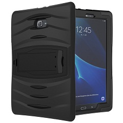 For Samsung Galaxy Tab E T560 T561 9.6 inch Tablet Case Cover Heavy Duty Rugged Impact Hybrid Case Kickstand Protective Cover tire style tough rugged dual layer hybrid hard kickstand duty armor case for samsung galaxy tab a 10 1 2016 t580 tablet cover