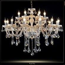Роскошные современные освещение люстра гостиная крытый хрустальные светильники отель свет 18 кандел люстра кристалл местный номер