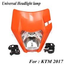 2017 New Motorcycle Dirt Bike Pitbike Motocross Universal Headlight lamp with 12v 35w H4 bulb For  SX EXC XCF SXF SMR etc 12v 35w headlight head lamp fairing motorcycle mx dirt bike off road dual sport ktm sx exc xcf sxf smr free shipping