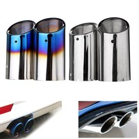 Stainless Steel Exhaust Muffler Tail Pipes For Volkswagen Golf 6 Golf 7 Mk 6 Mk7 2013