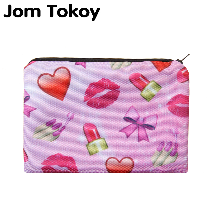 Red lips Portable Type Make up Bags Cosmetic Case Maleta de Maquiagem Bags Storage Travel Makeup Bag Brand Pencil case msq make up bag pink and portable cosmetic bags for professional makeup artist toiletry case new arrival