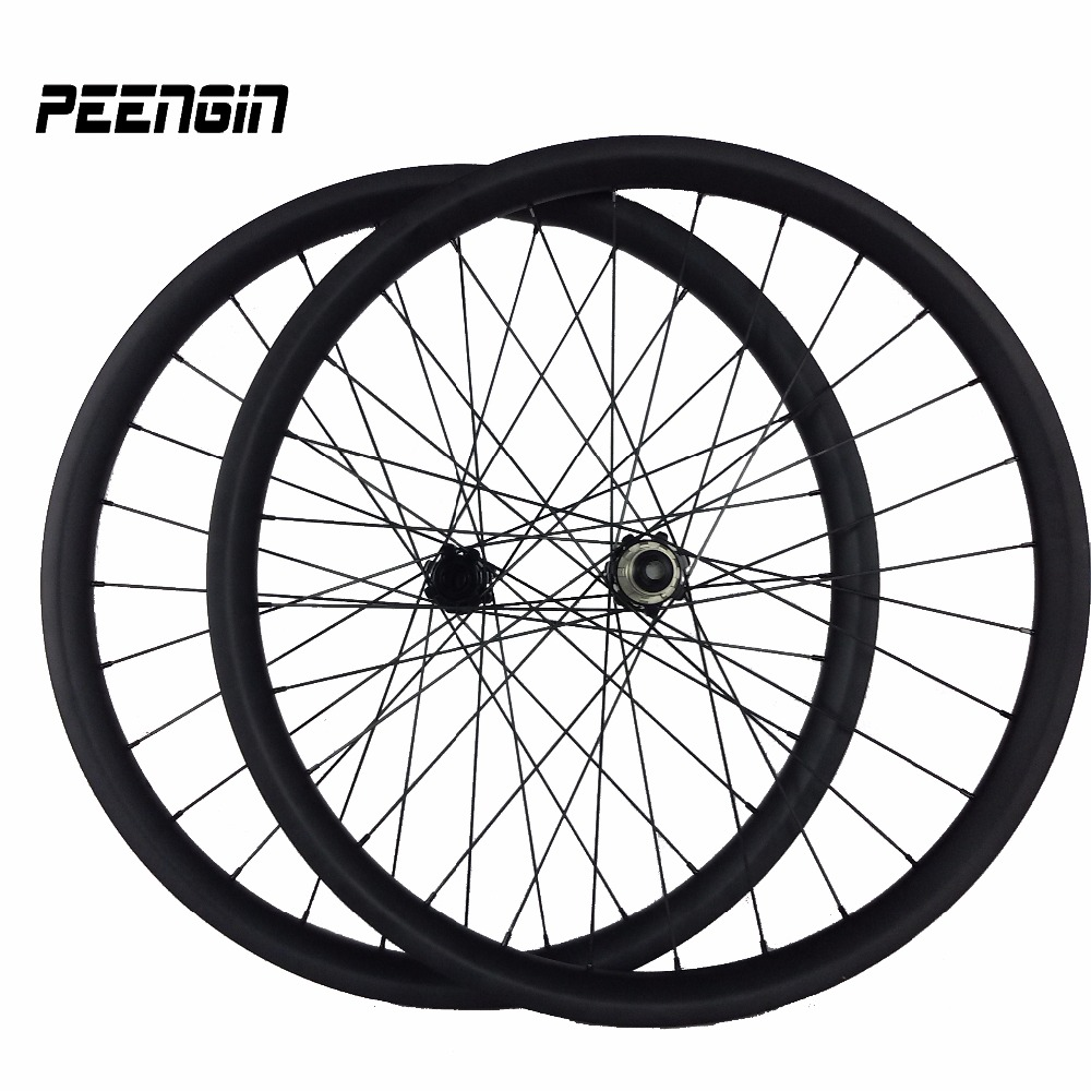 29er MTB Wheelset carbon tubeless kit mtb rear wheel bike 40mmx30mm rim Hookless bead cycling rim XC easy conquer rough terrain 29er 650b hookless carbon mtb wheelset width 30mm 35mm 40mm tubeless mountain bike thru axle wheelset front 12 100 rear 12 142
