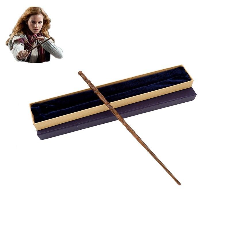 Colsplay metal núcleo hermione granger varinha mágica varinha mágica/alta qualidade caixa de presente embalagem